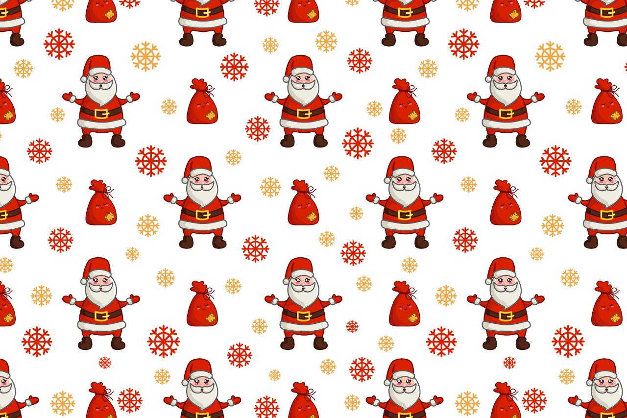 Cute vector Christmas - Santa Claus example image 3