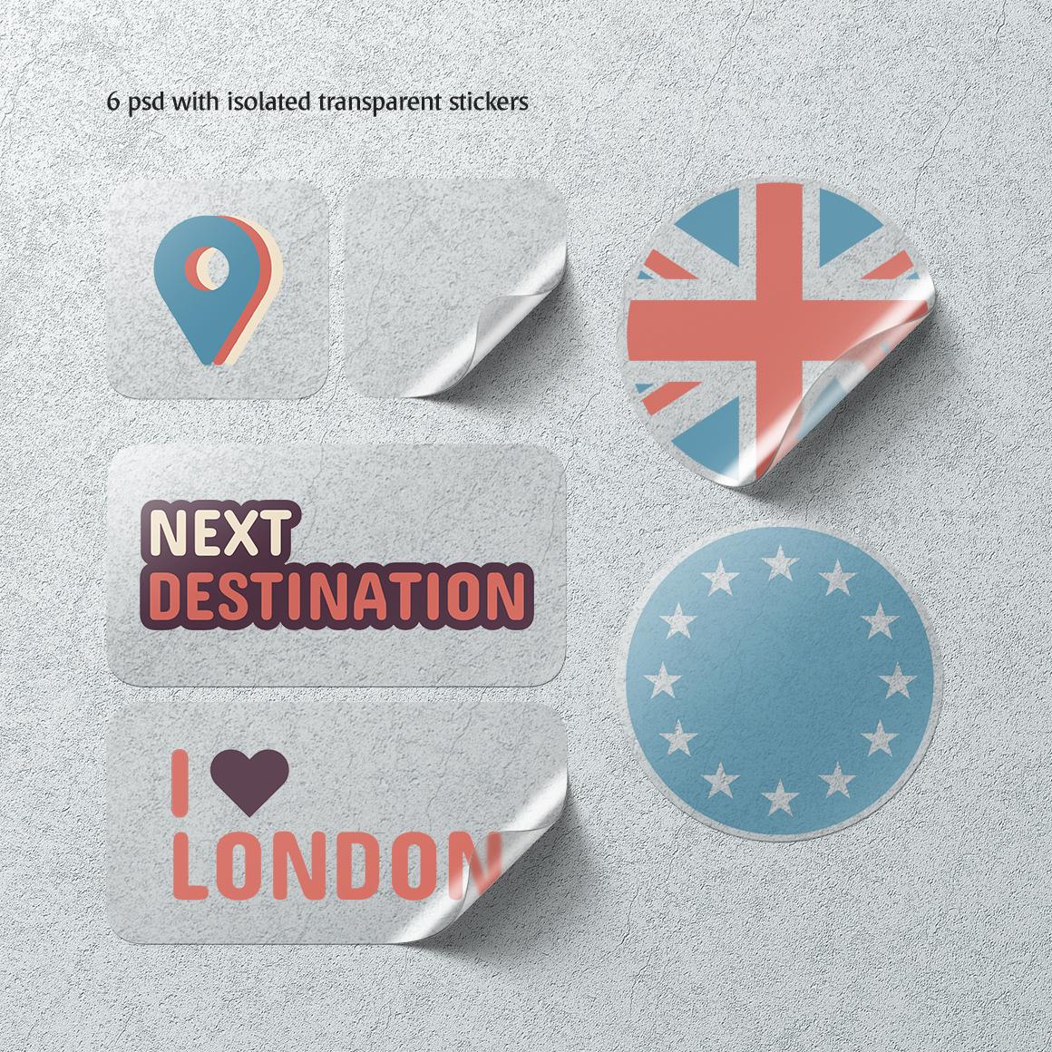 Stickers Mockups Set example image 4