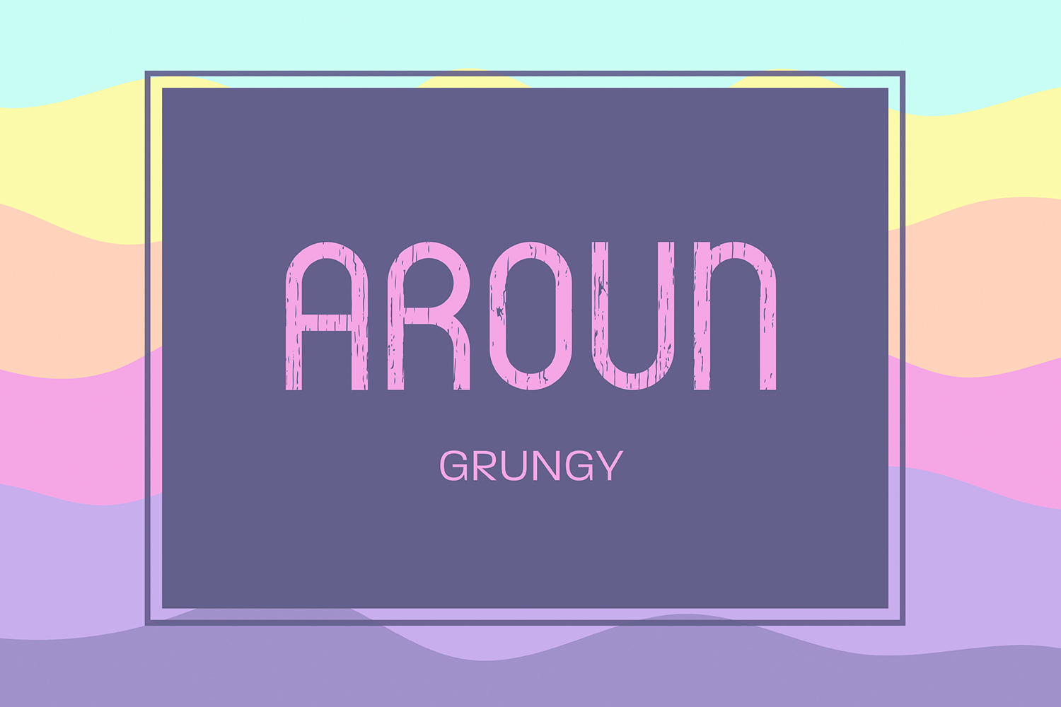 Aroun|All Caps Typeface| 5 Styles Included example image 5