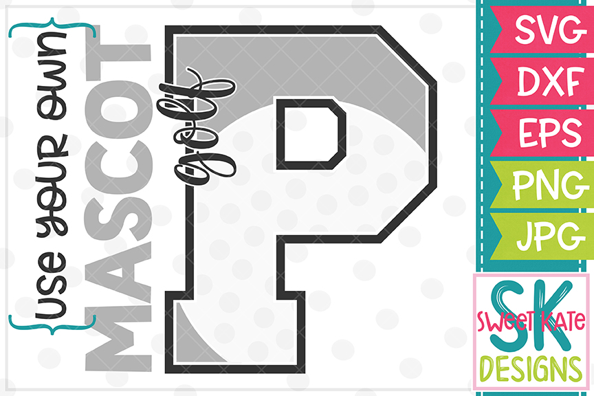 Your Own Mascot P Golf SVG DXF EPS PNG JPG example image 1
