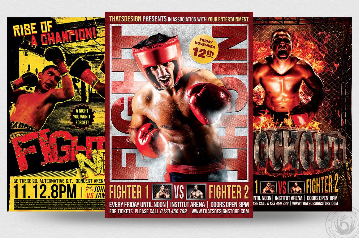 Fight Night Flyer Bundle example image 2