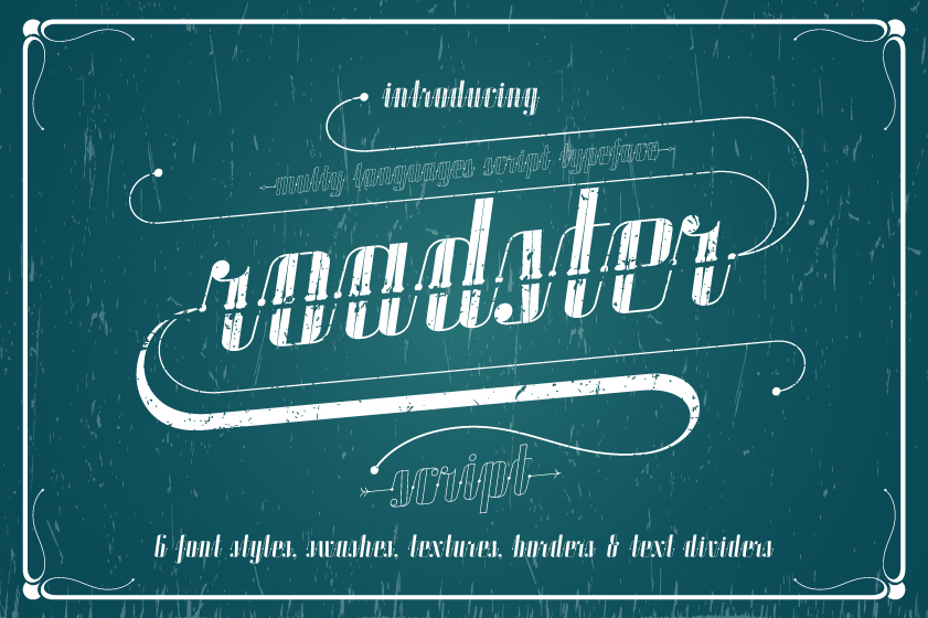 ROADSTER typeface example image 1