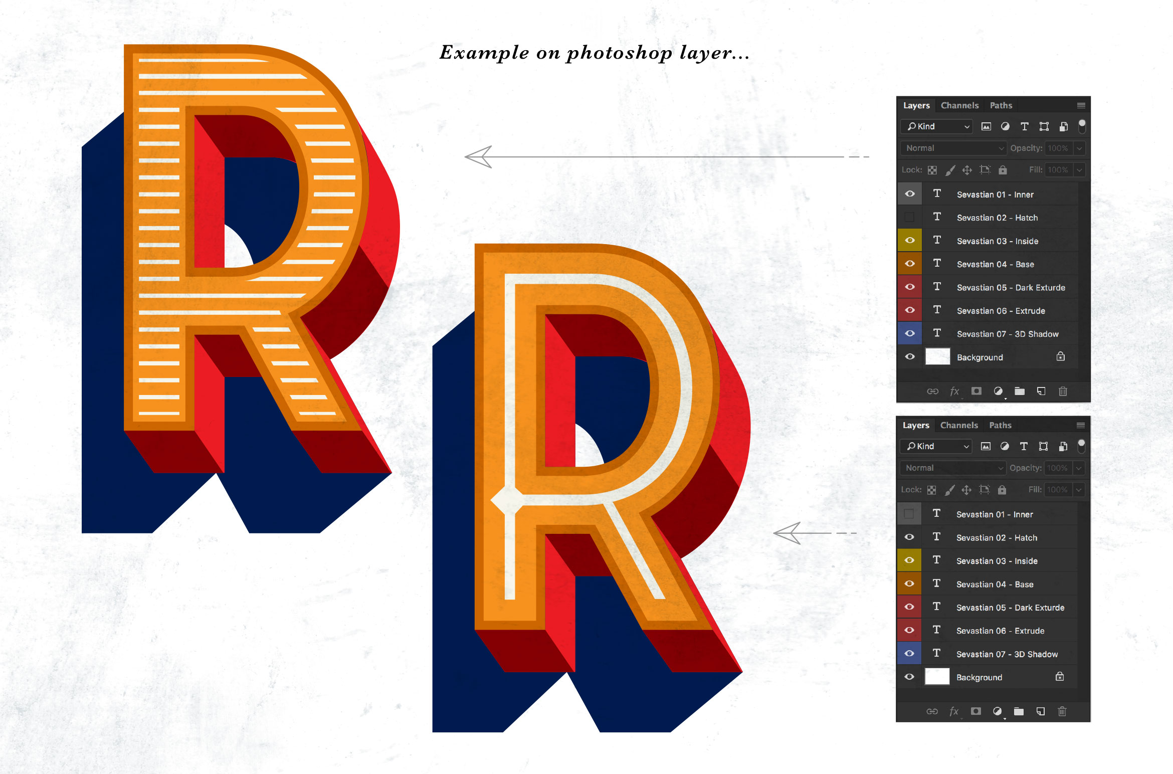 Sevastian - Seven Layered Typeface example image 3
