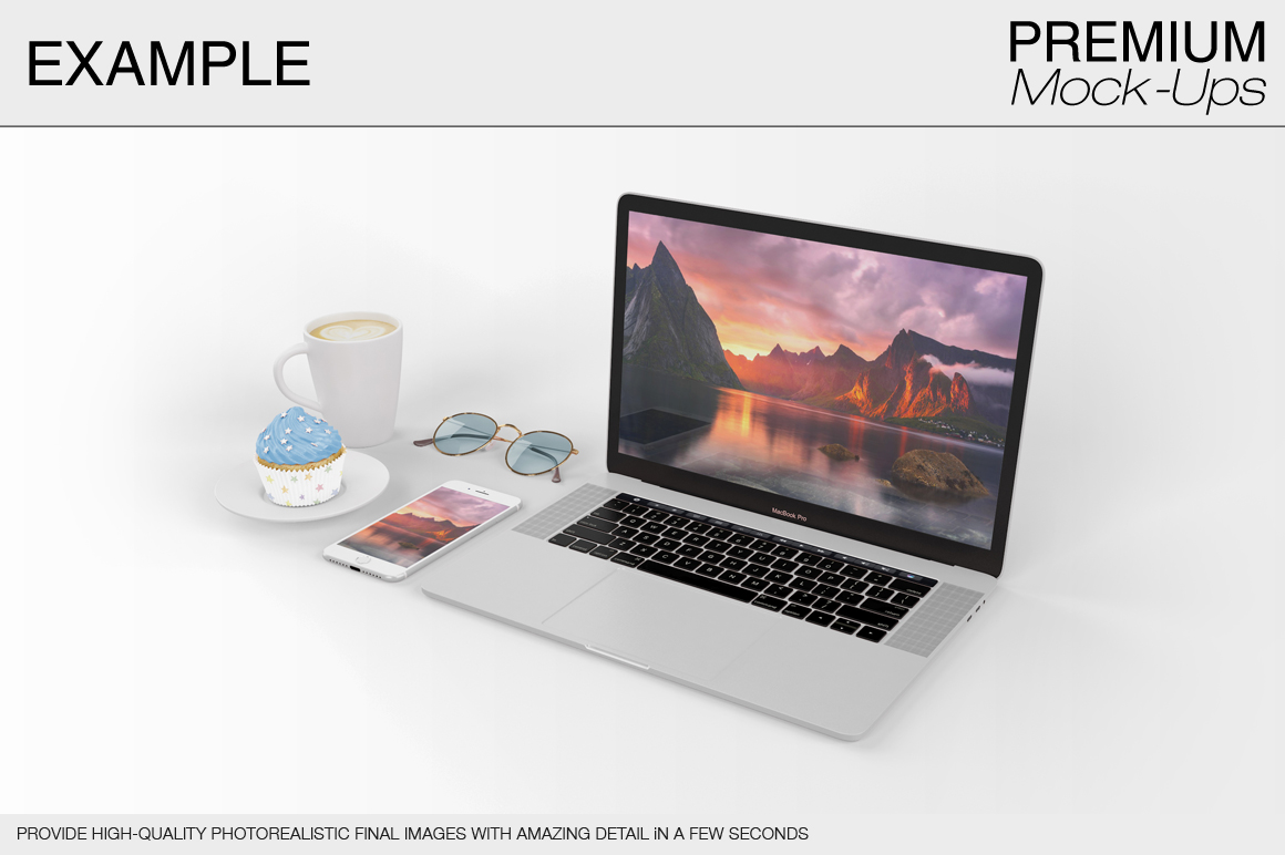laptop mockup set apple macbook pro b design bundles