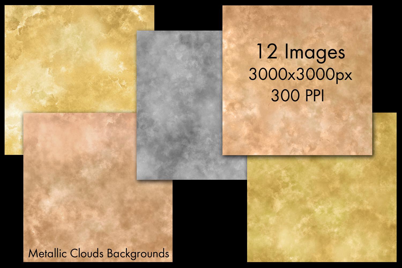 Metallic Clouds Backgrounds - 12 Image Set example image 2