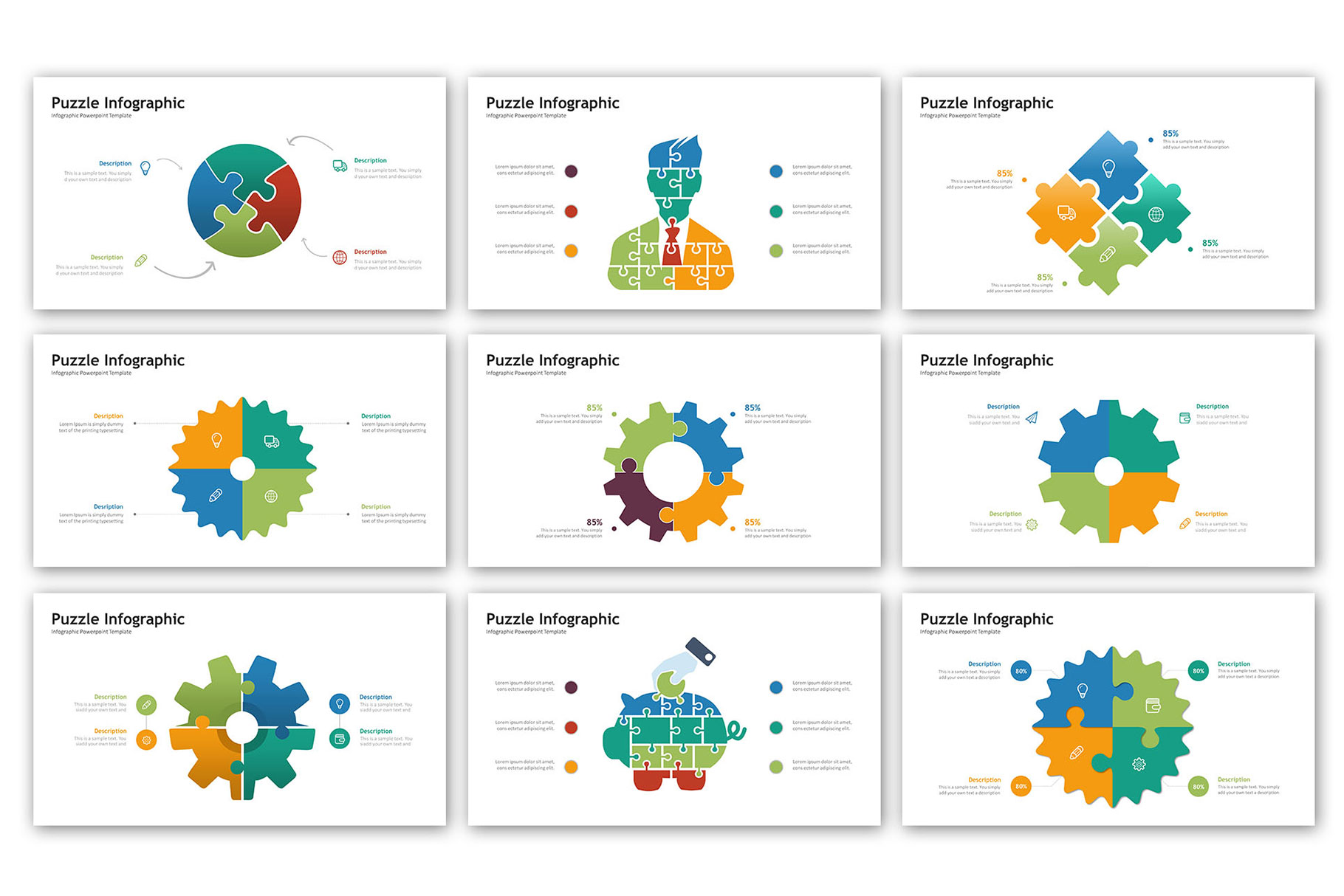 Puzzle Presentation - Infographic Template example image 4