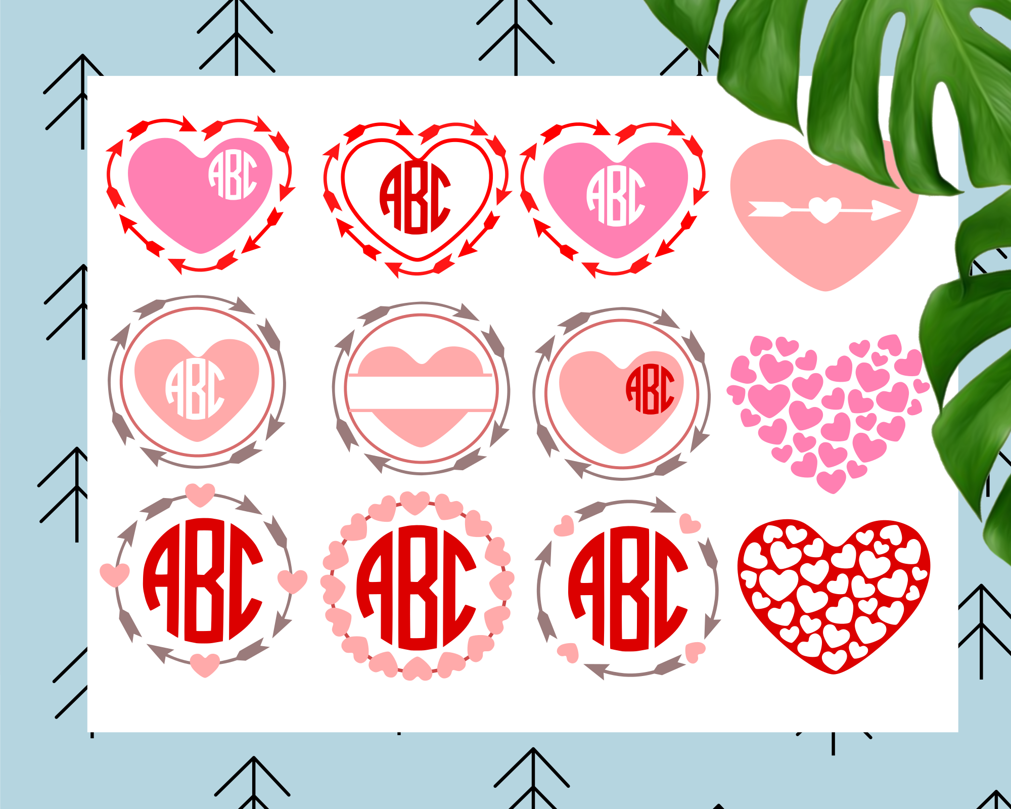 Heart Monogram Frames example image 1