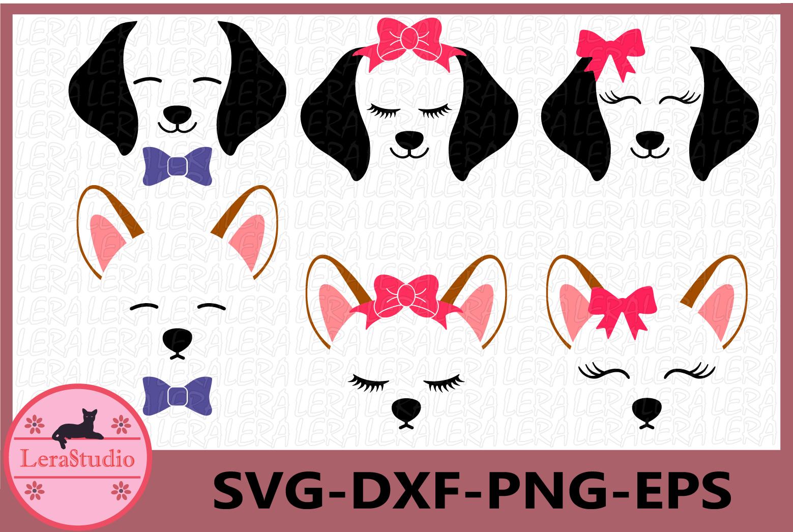 Dog SVG, Dog Face Svg, Puppy Svg, Dog svg, Clipart example image 1