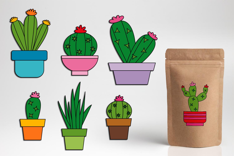 Succulent cactus clip art illustrations bundle example image 6