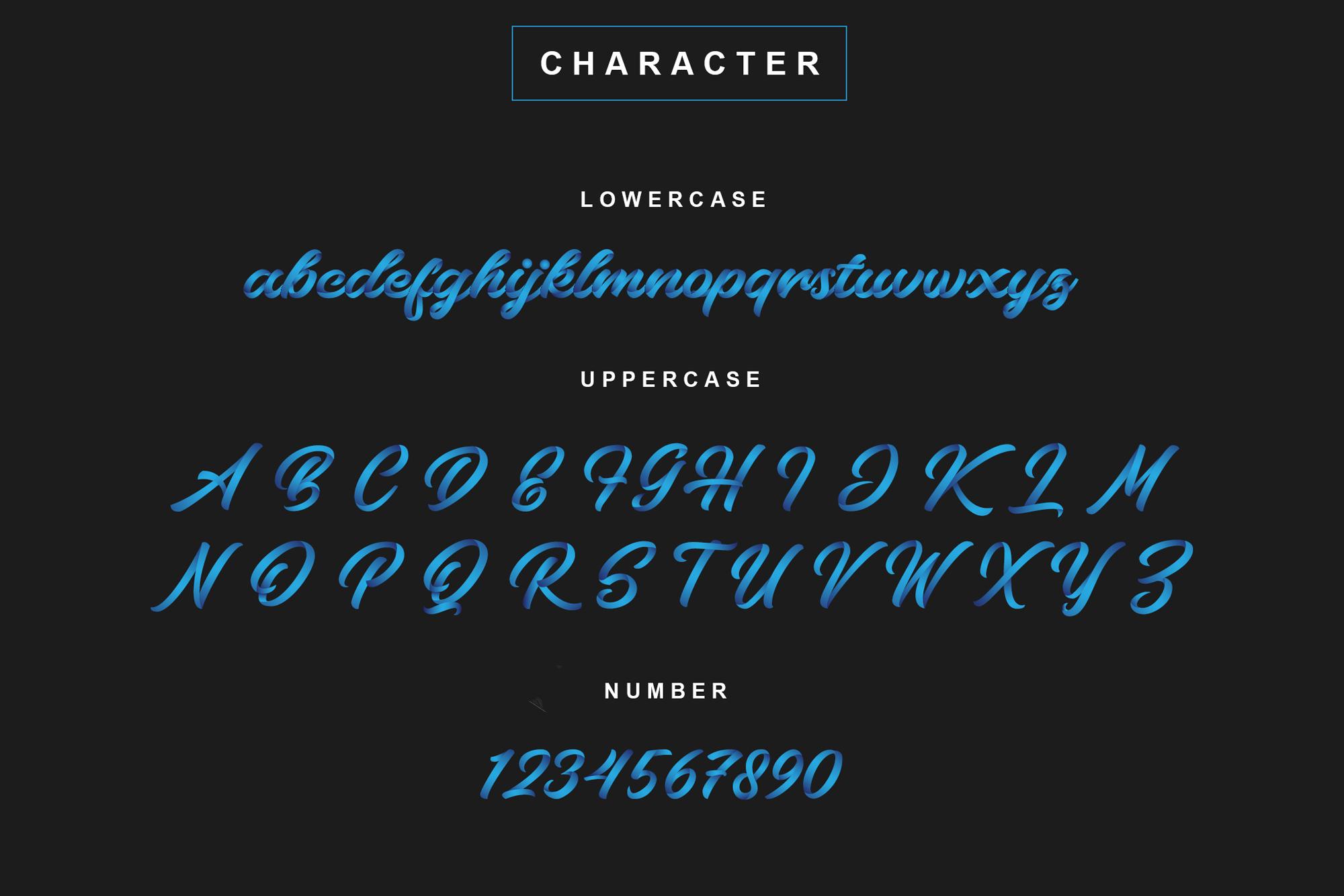 Bluesky OpentypeSVG Font  example image 2
