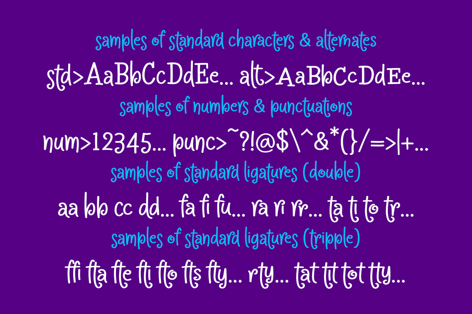 Crapty - a Playful Font with Cute Alternates & Ligatures example image 9