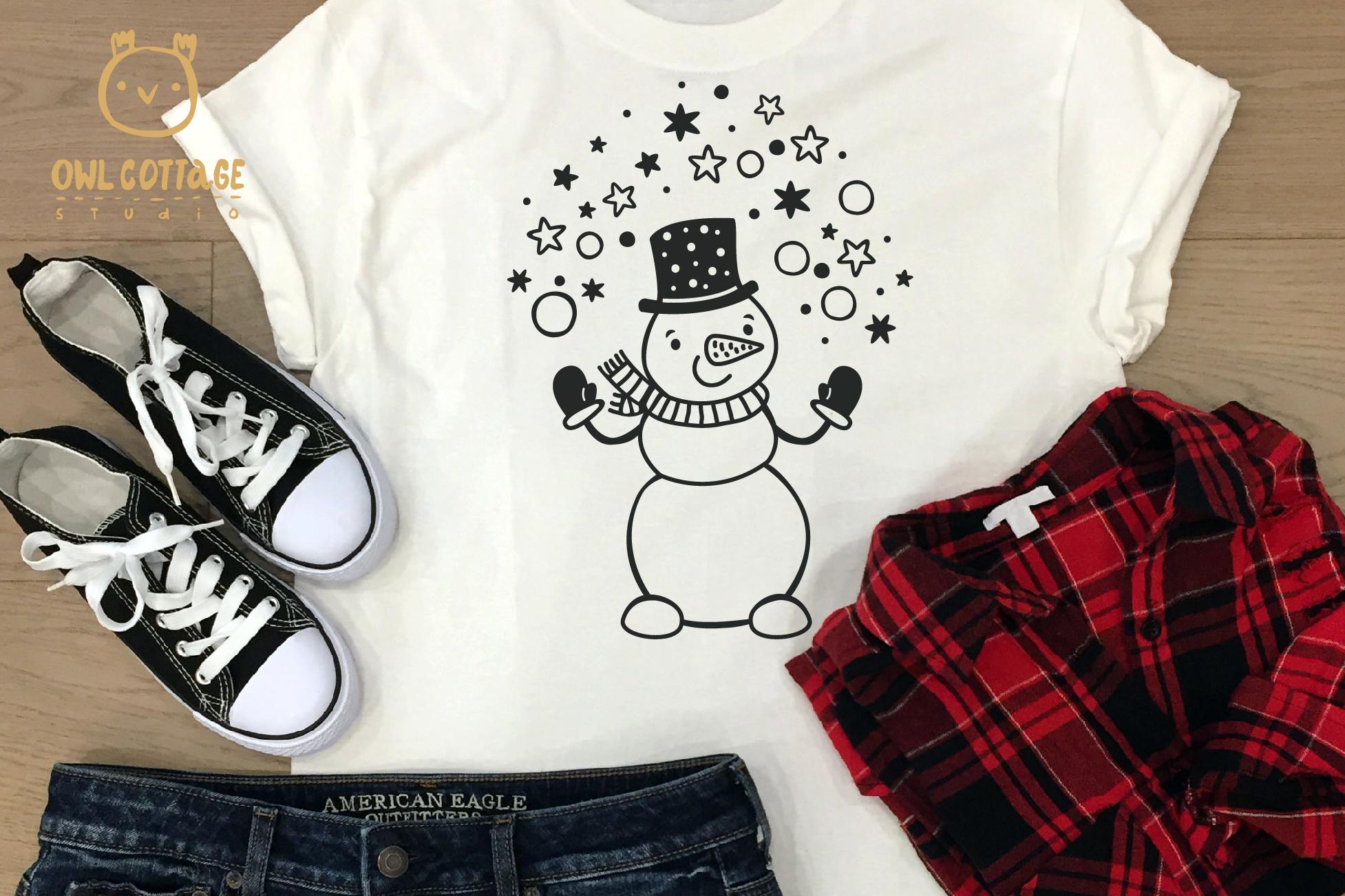 Let it Snow SVG Snowman, Snowman SVG, Christmas SVG example image 7