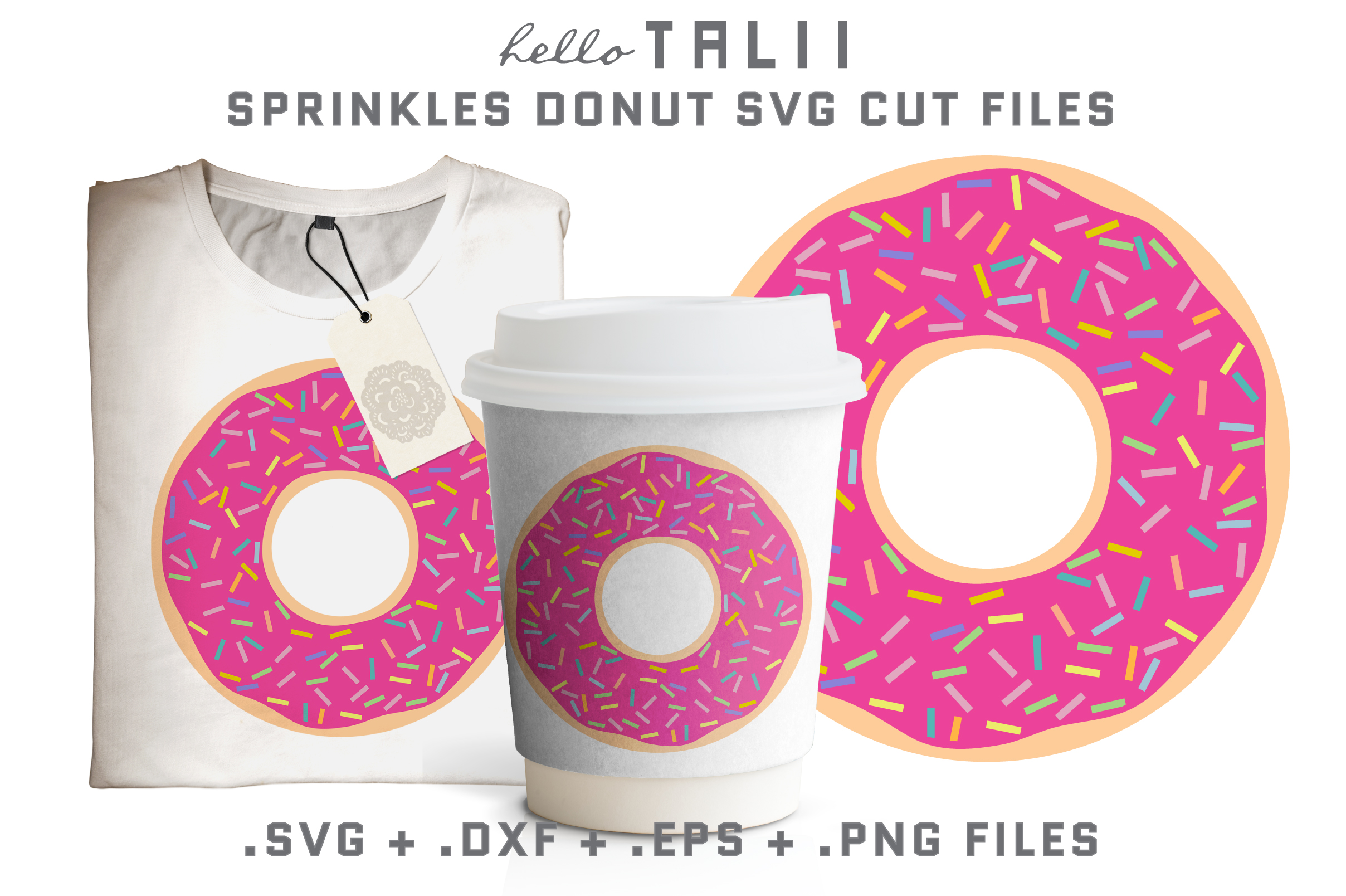 Sprinkles Donut SVG Cut files example image 1