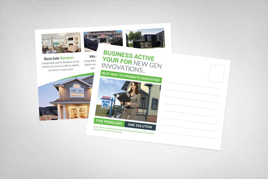 Coastal Real Estate Postcard Template example image 2