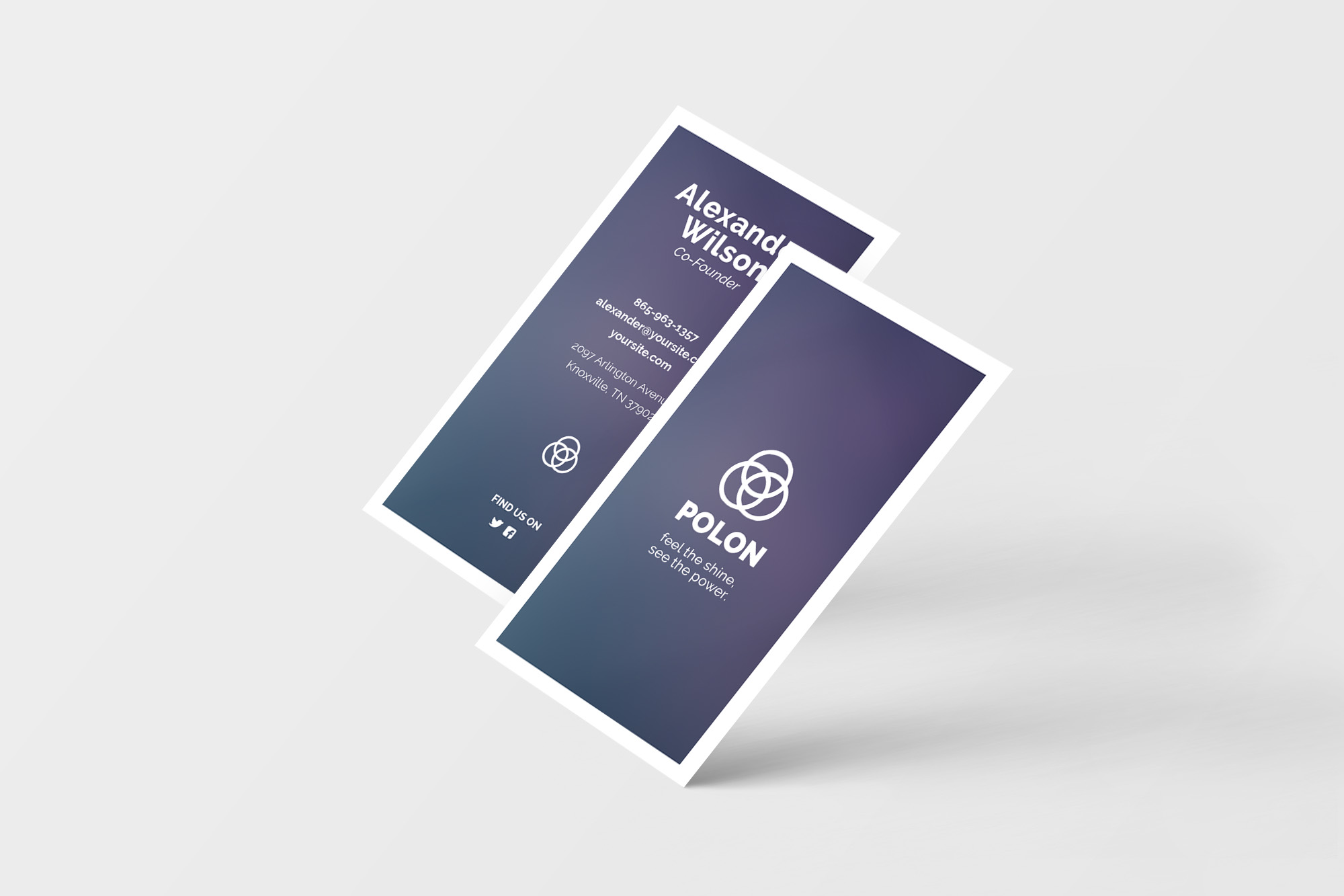 Polon - A Modern Business Card Template example image 5
