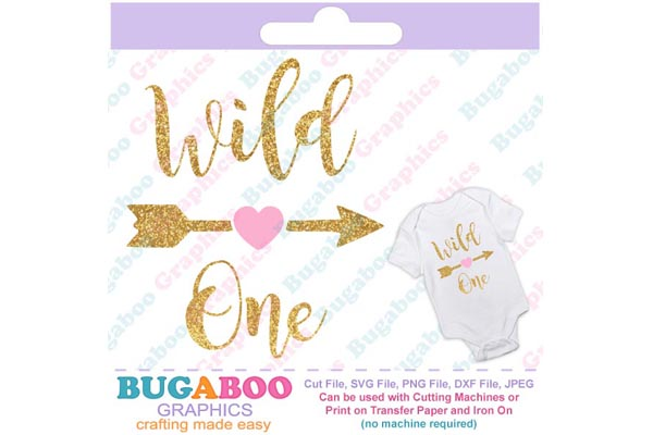 Wild One Svg Cut File Baby Svg, First Birthday example image 1
