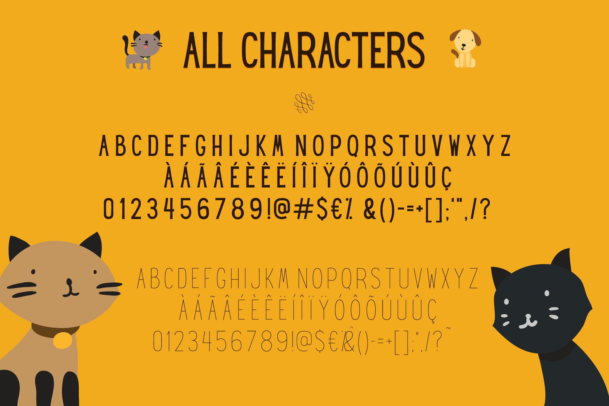 Hey Gotcha! Font - Bold & Thin example image 6