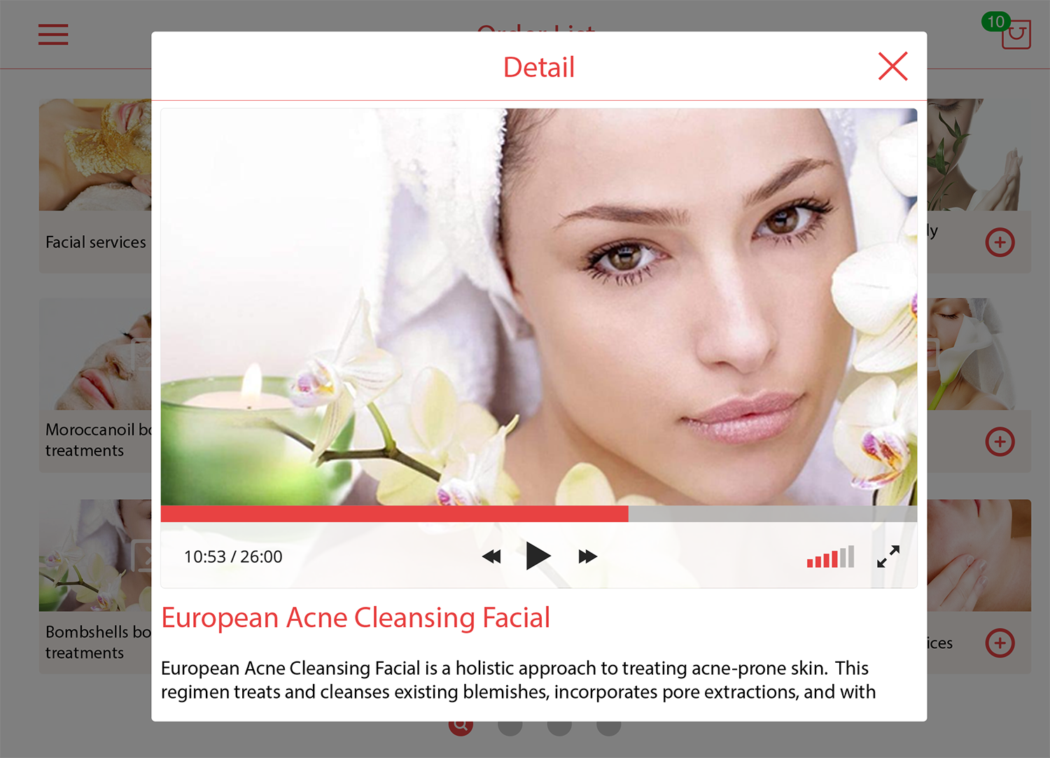 Touch Spa UI Kit example image 3