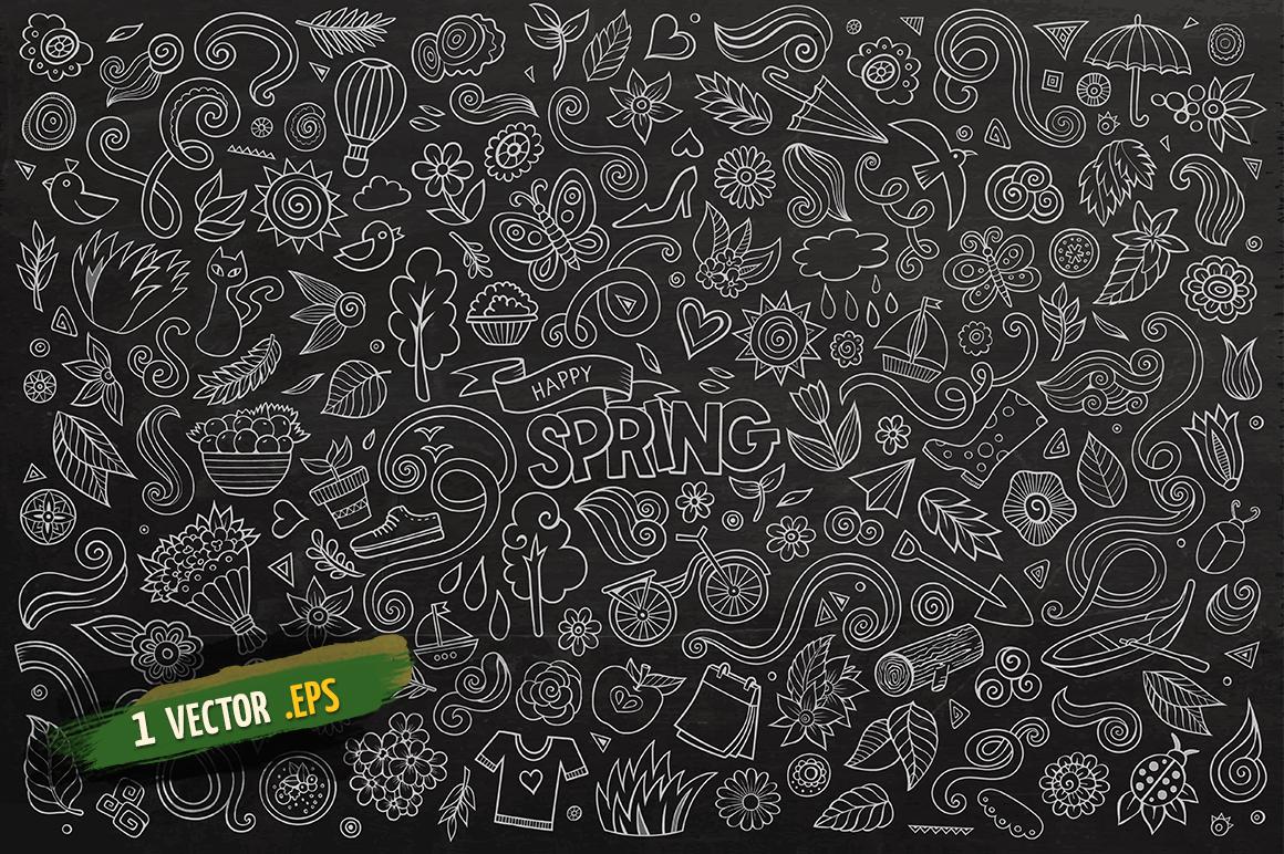 Spring Objects & Symbols Set example image 4