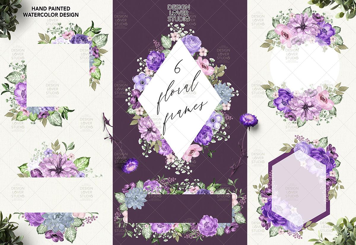 Ultra Violet watercolor design example image 3