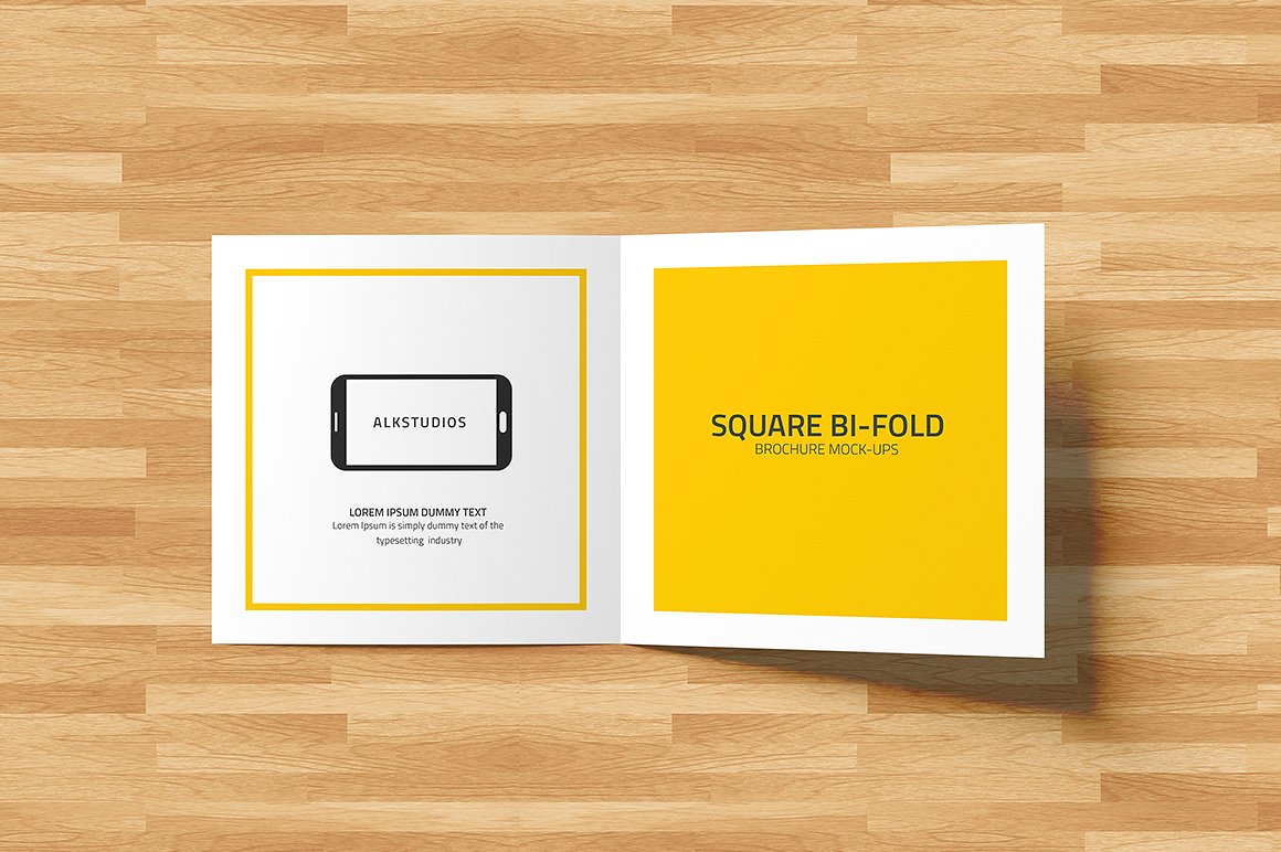 Square Bi-fold Brochure Mock-Up example image 9