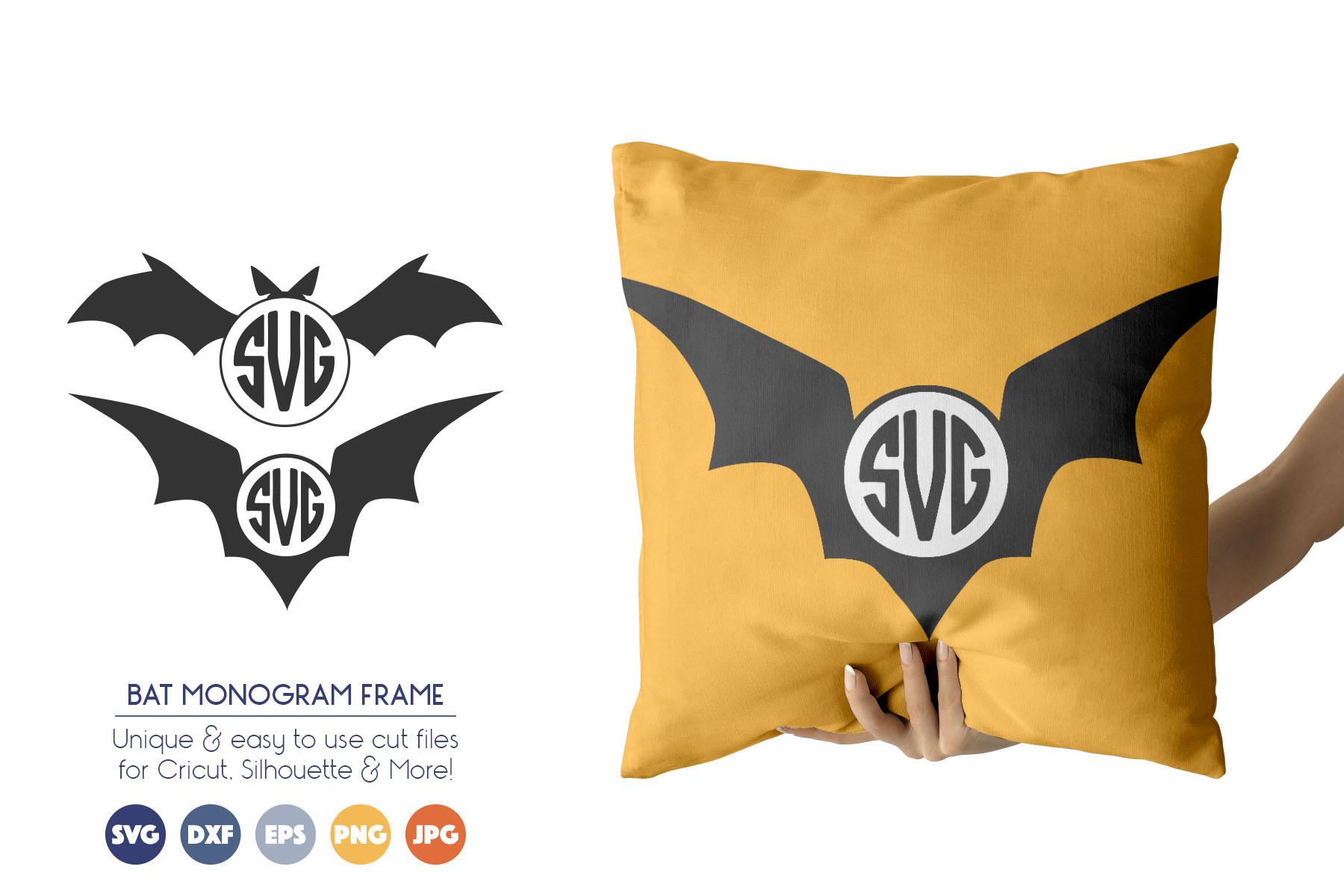 Halloween Monogram Frames Svg Cutting Files Bat Svg