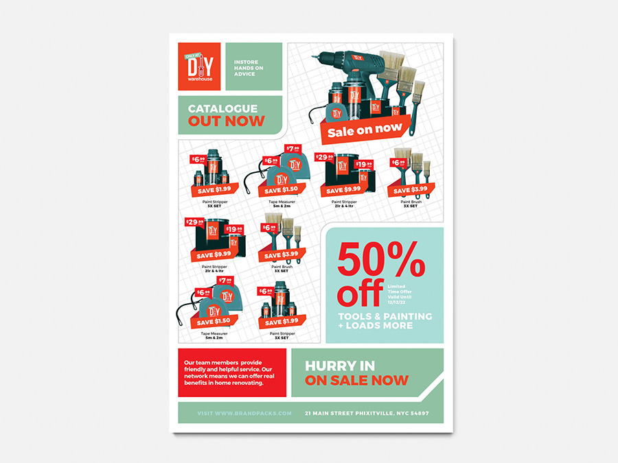 A4 DIY Tool Supply Advertisement Template example image 3