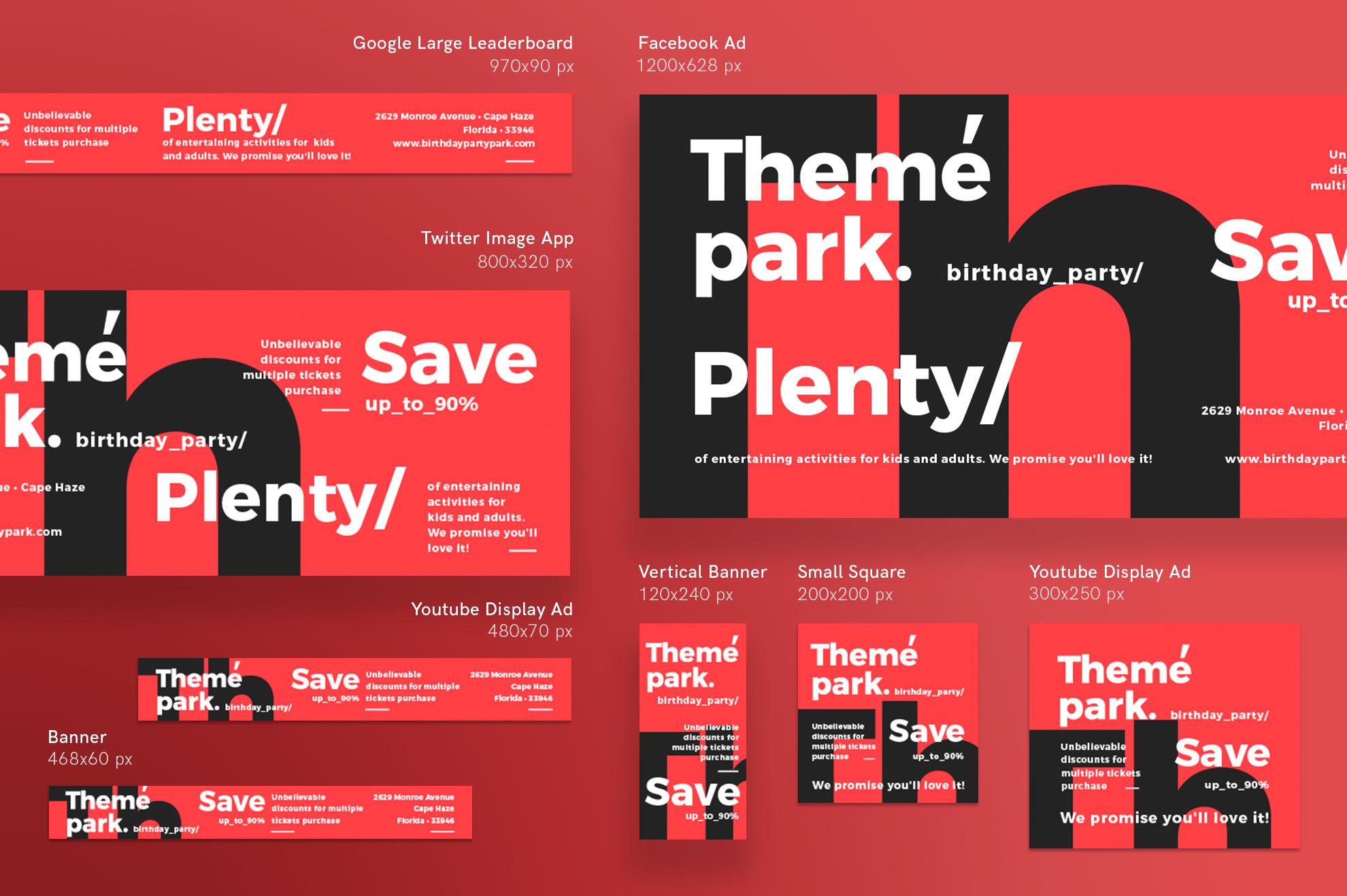 Theme Park Party Entertainment Design Templates Bundle example image 12