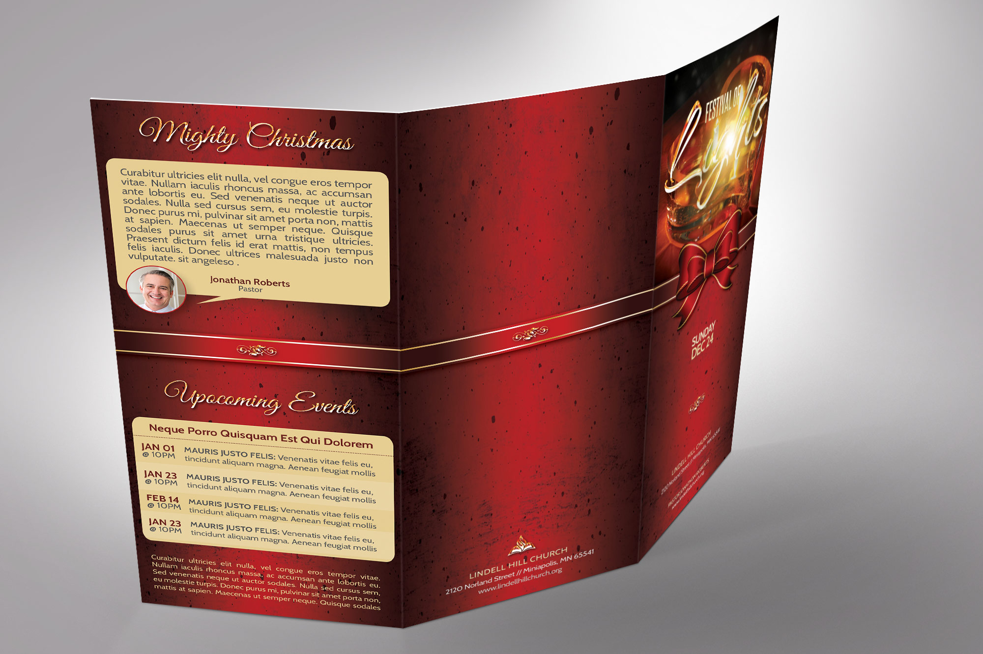 Candle Light Tri-fold Brochure example image 7