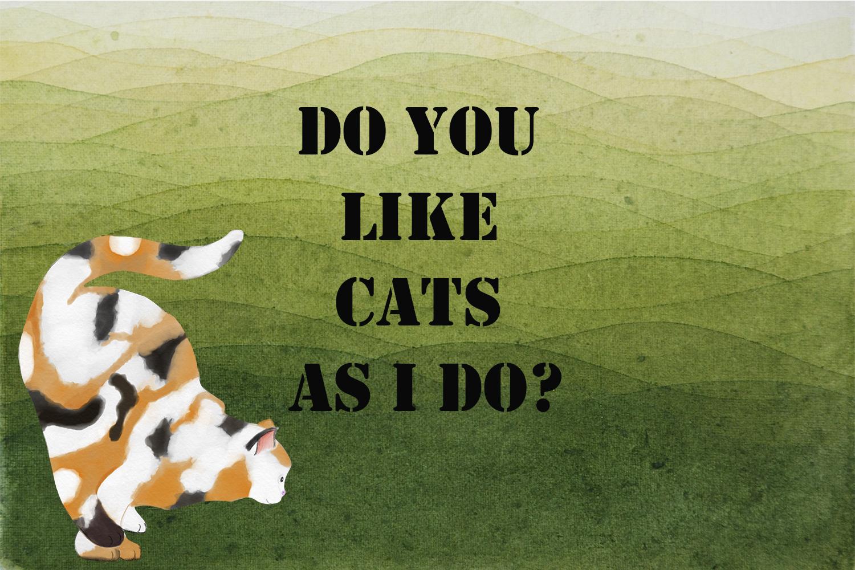 7 cats . watercolor set. hand drawn example image 4