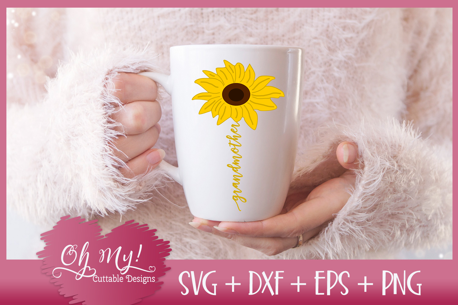 Grandmother Sunflower - SVG EPS DXF PNG Cutting File example image 2