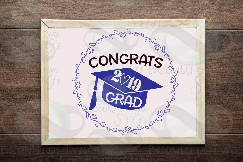 2019 Grad svg and png, Congrats 2019 Graduate svg example image 1