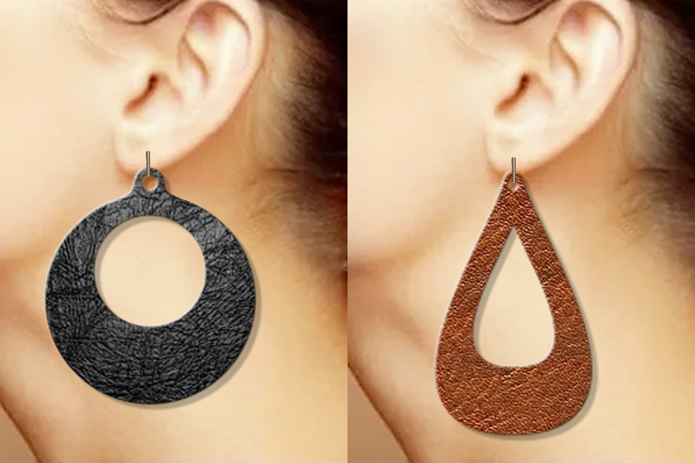 12 Geometric earrings svg Wood earrings svg Necklace svg example image 2