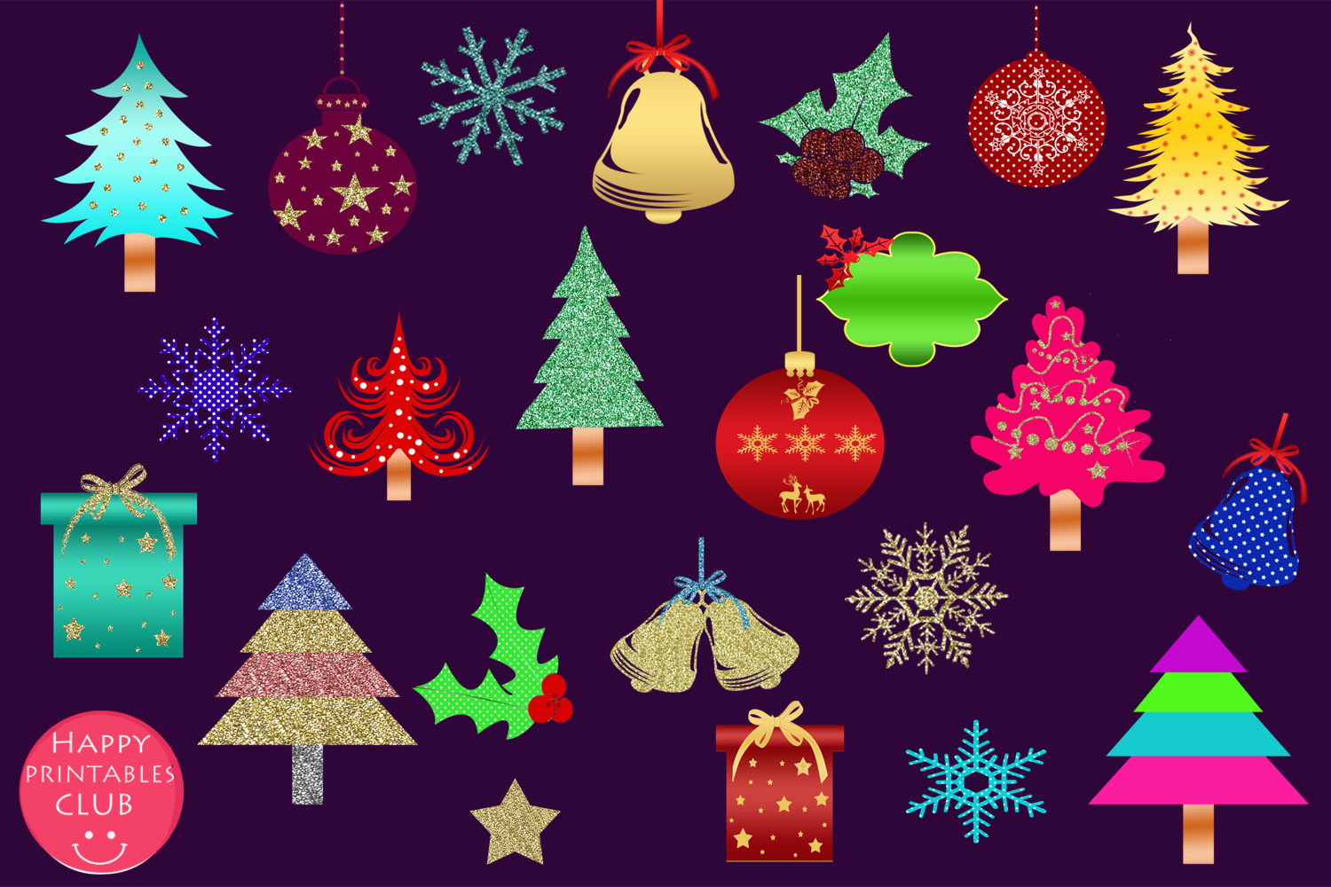 Cute Christmas Clipart- Cute Holiday Graphics Clipart example image 2