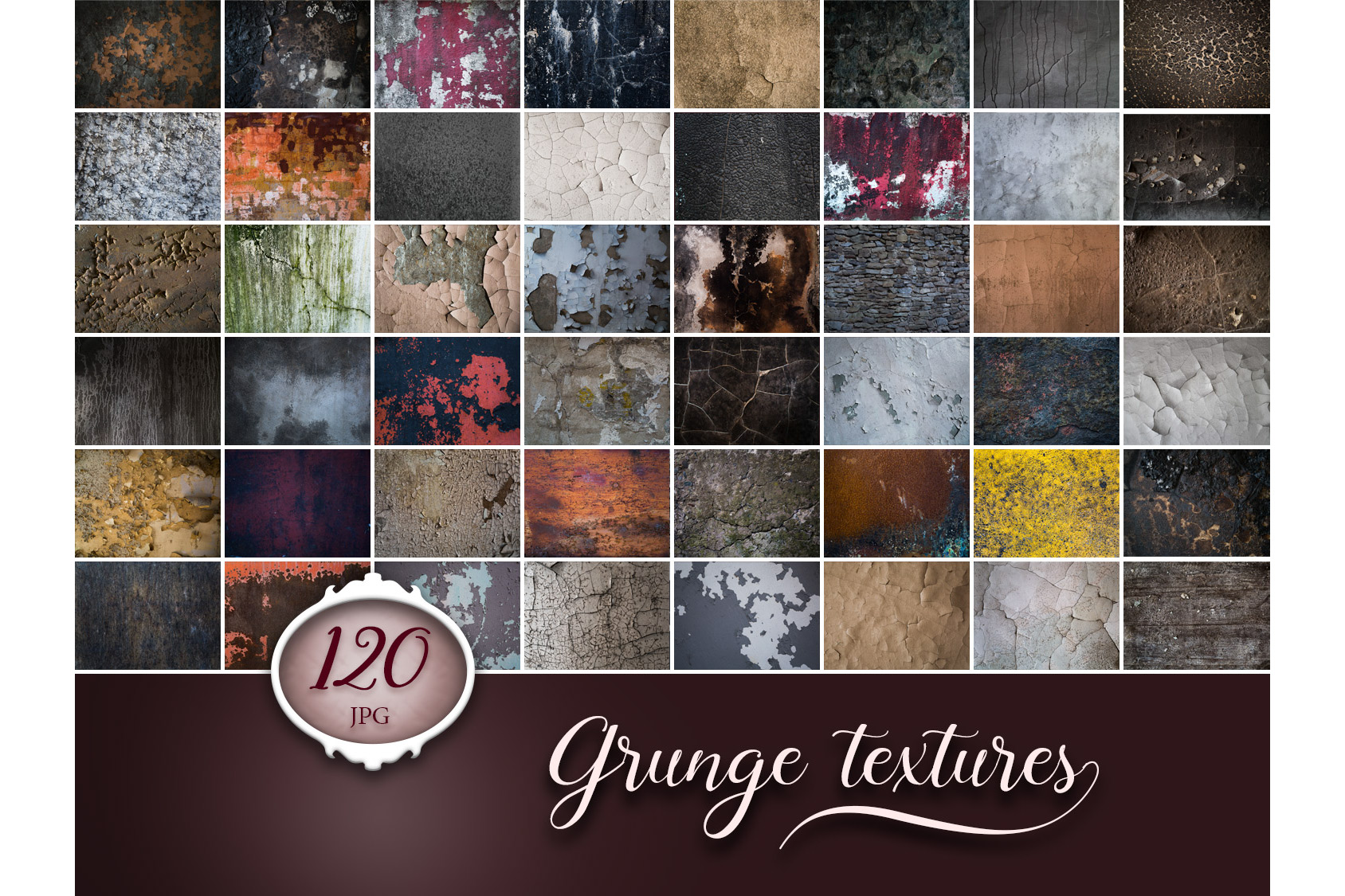 120 Grunge Cracks Photo Overlays example image 1