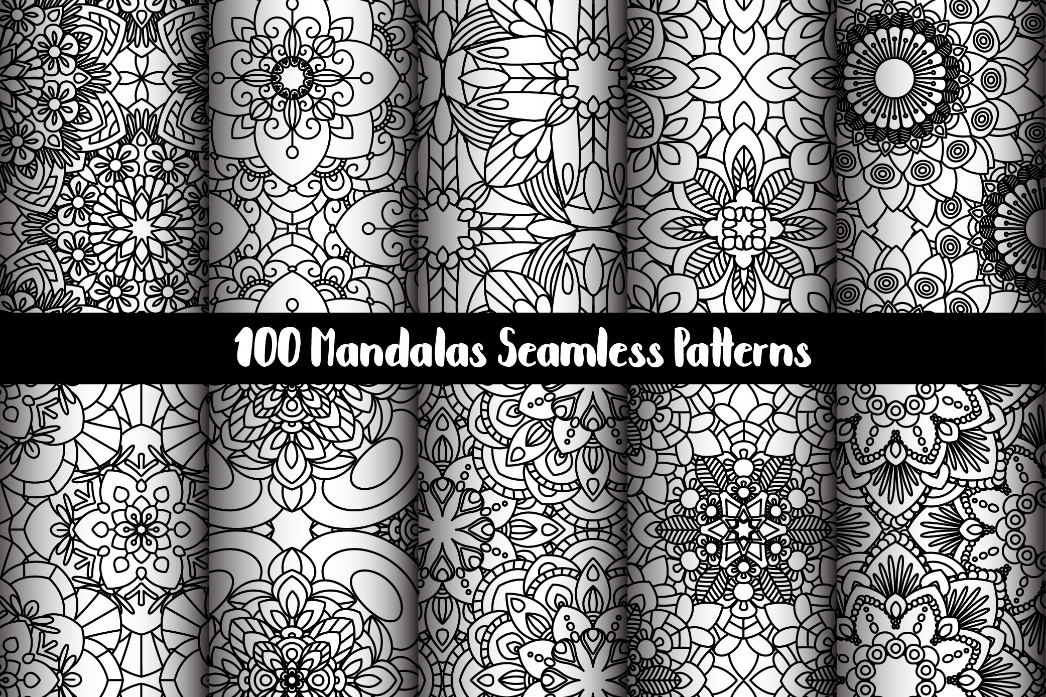 100 Mandalas Seamless Patterns example image 11