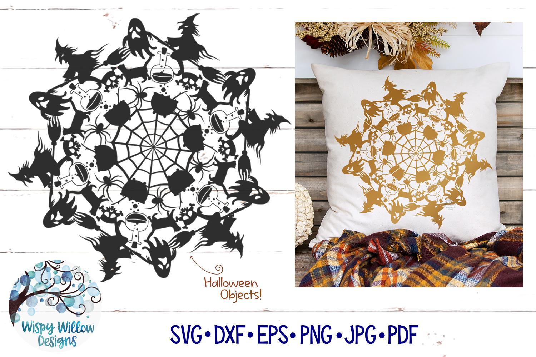 Halloween Mandala SVG | Fall Mandala SVG | Fall SVG Cut File example image 1