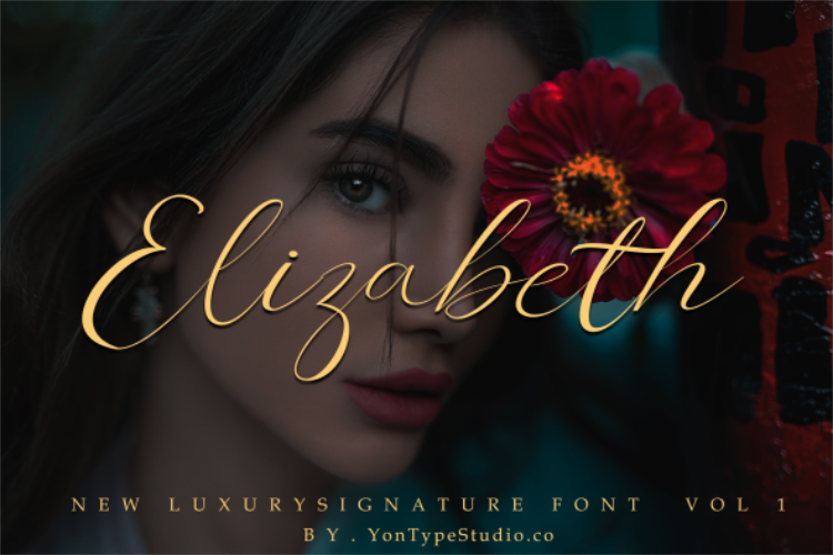 Elizabeth Luxury Signature Font example image 1