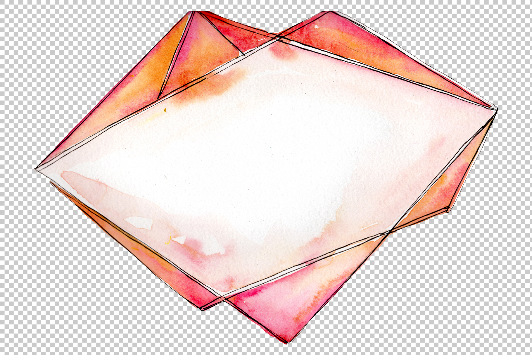 Tourmaline crystals Watercolor png example image 4