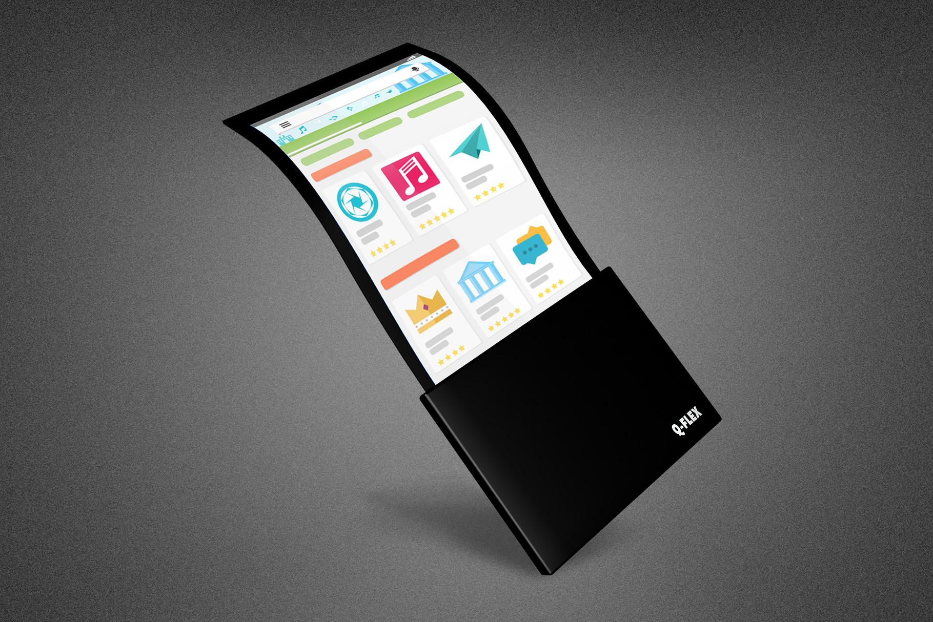Flexible Phone Mockup Template example image 5