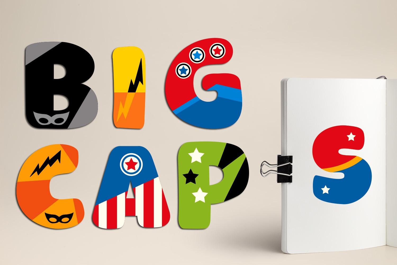 Superhero Alphabet and Punctuation - Graphics Bundle example image 13