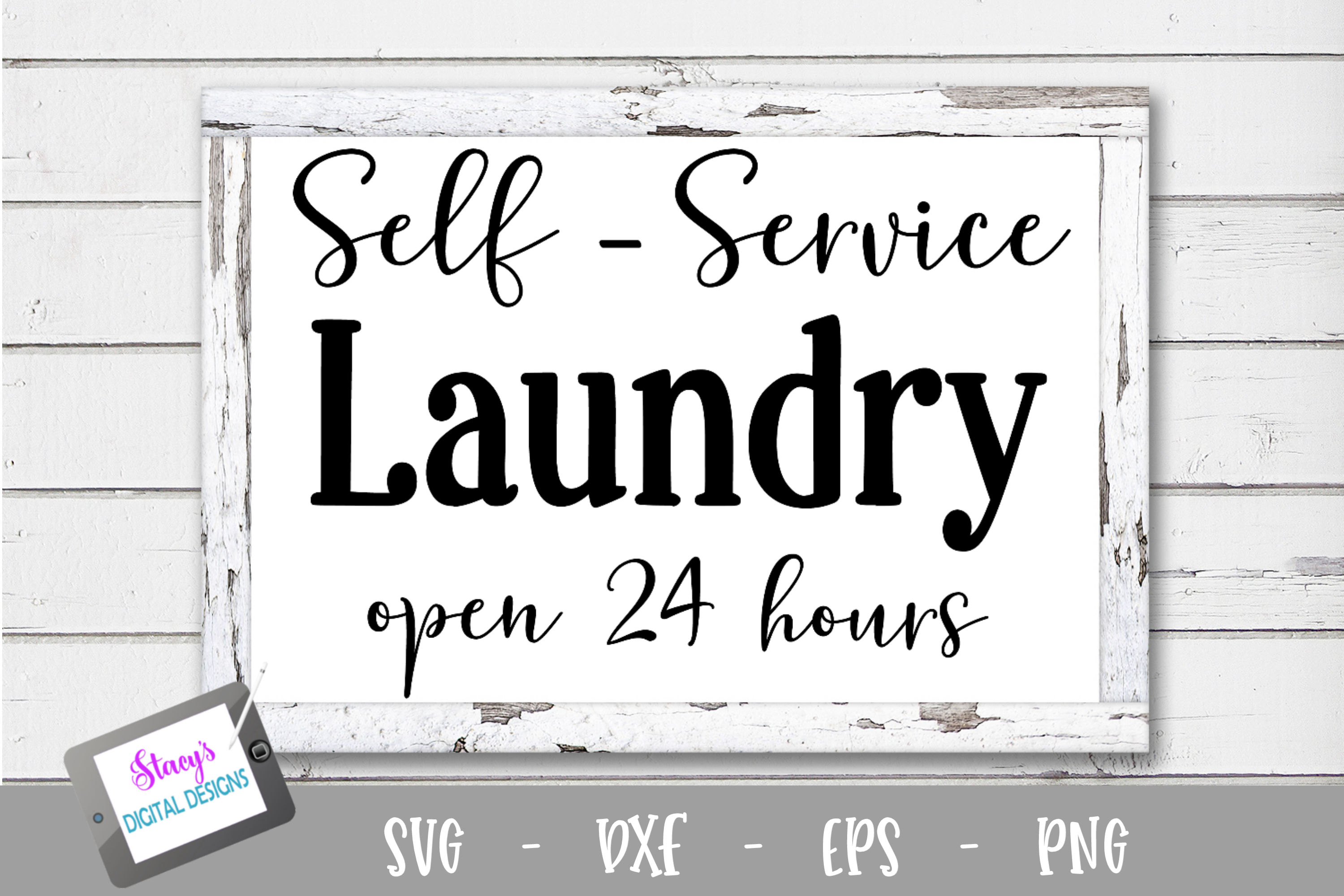 Laundry SVG - Self Service Laundry, open 24 hours example image 1