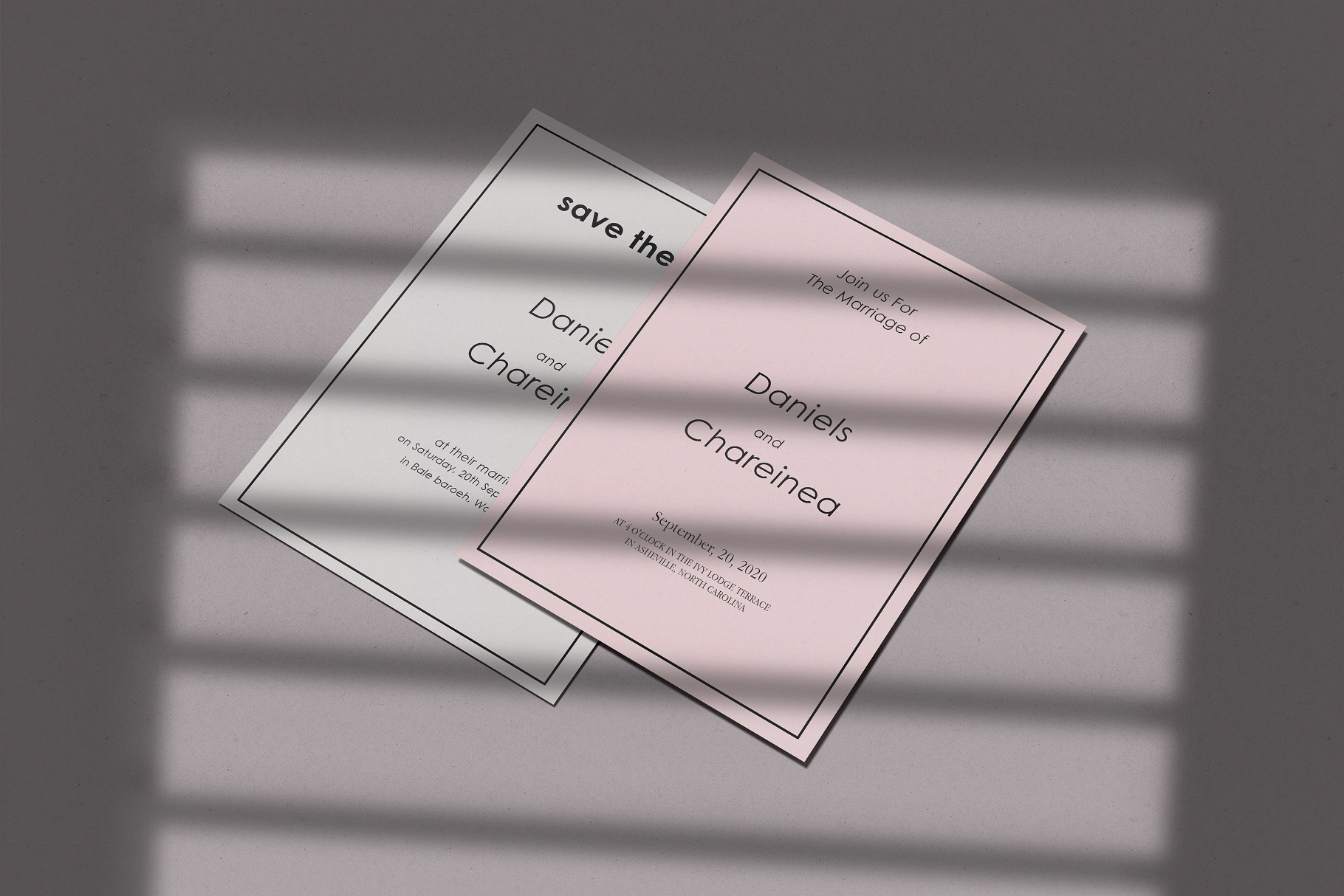 Wedding Invitation Suite Mockup example image 3