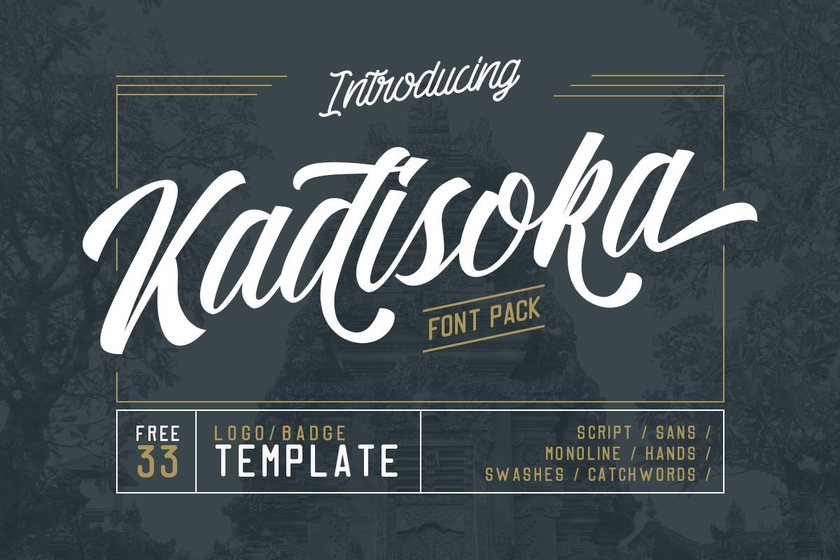 Kadisoka Font Pack example image 1