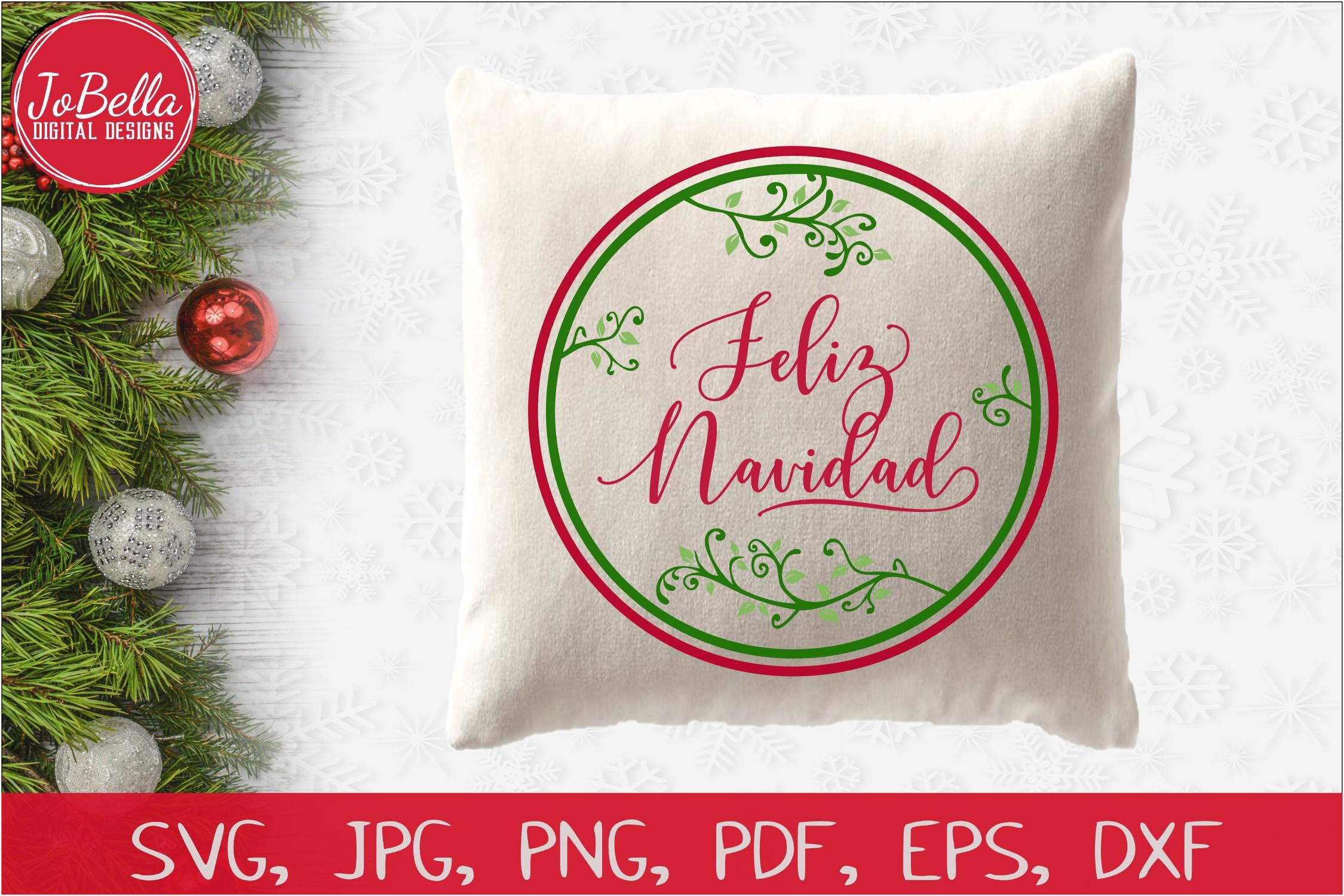 Feliz Navidad SVG Printable & Sublimation PNG example image 2