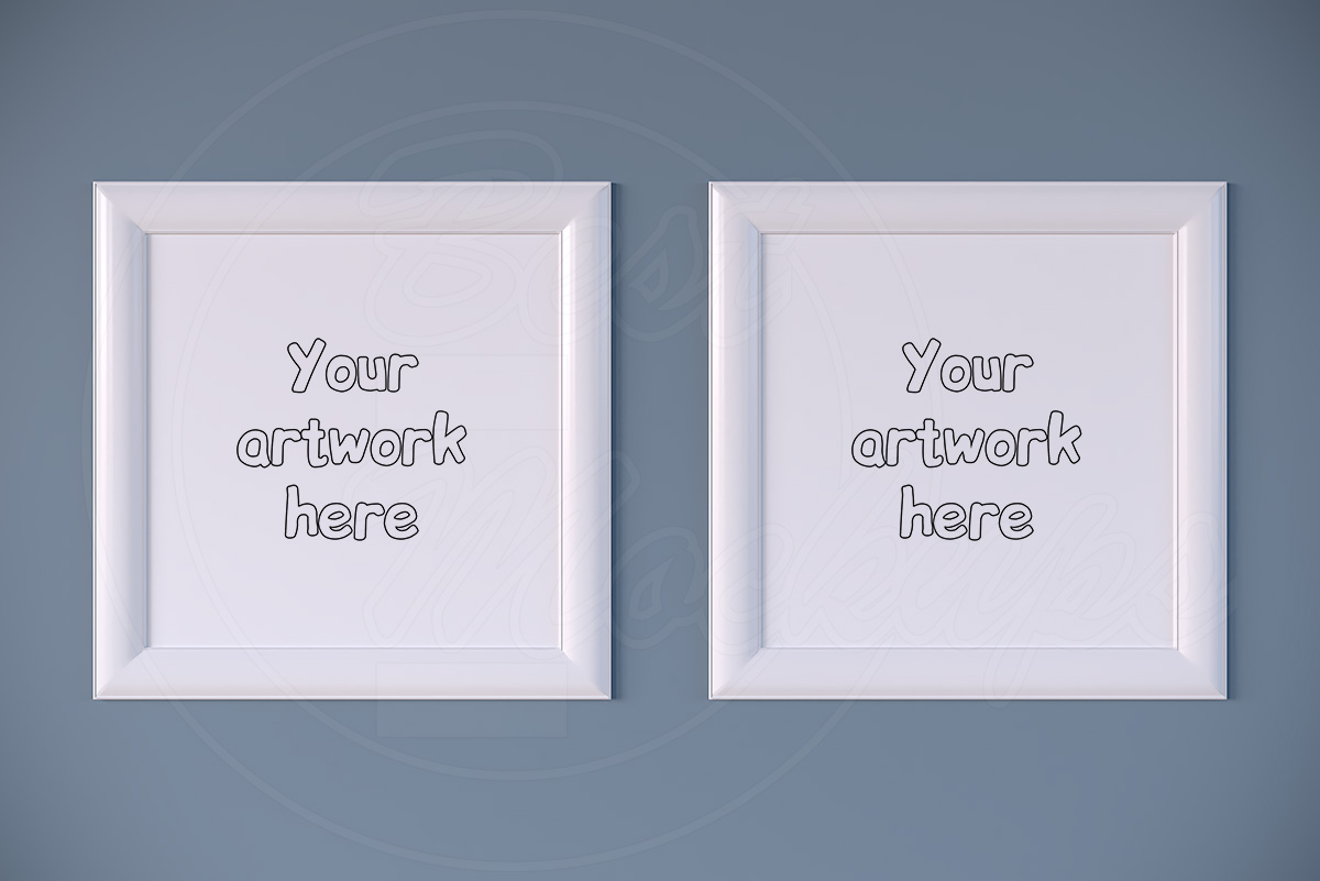 Kit of two white square mock ups example image 1
