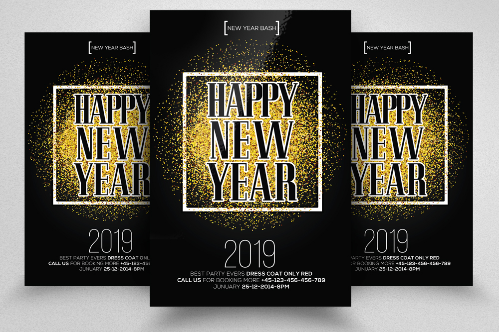 Happy New Year Party Flyer example image 1