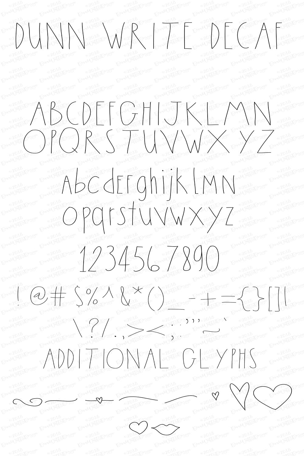 The Dunn Write Farmhouse Skinny Font Collection example image 4