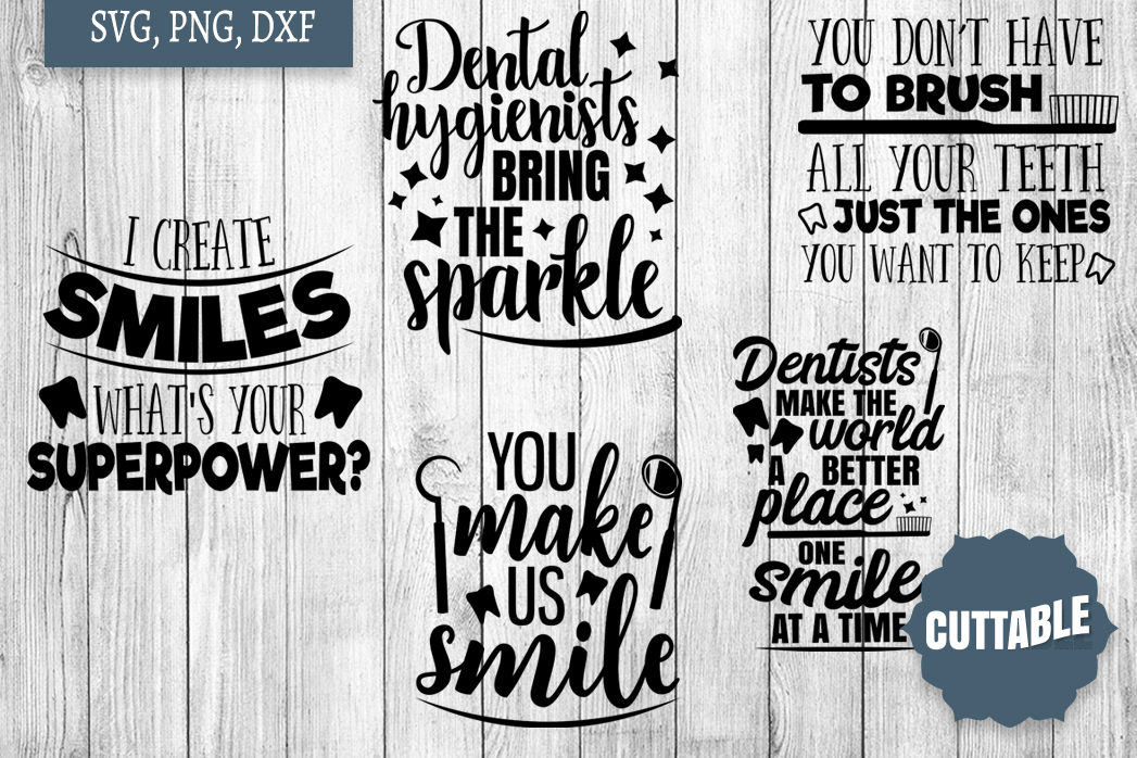 Dentist Bundle cut files, Dentistry Quote SVGs example image 3