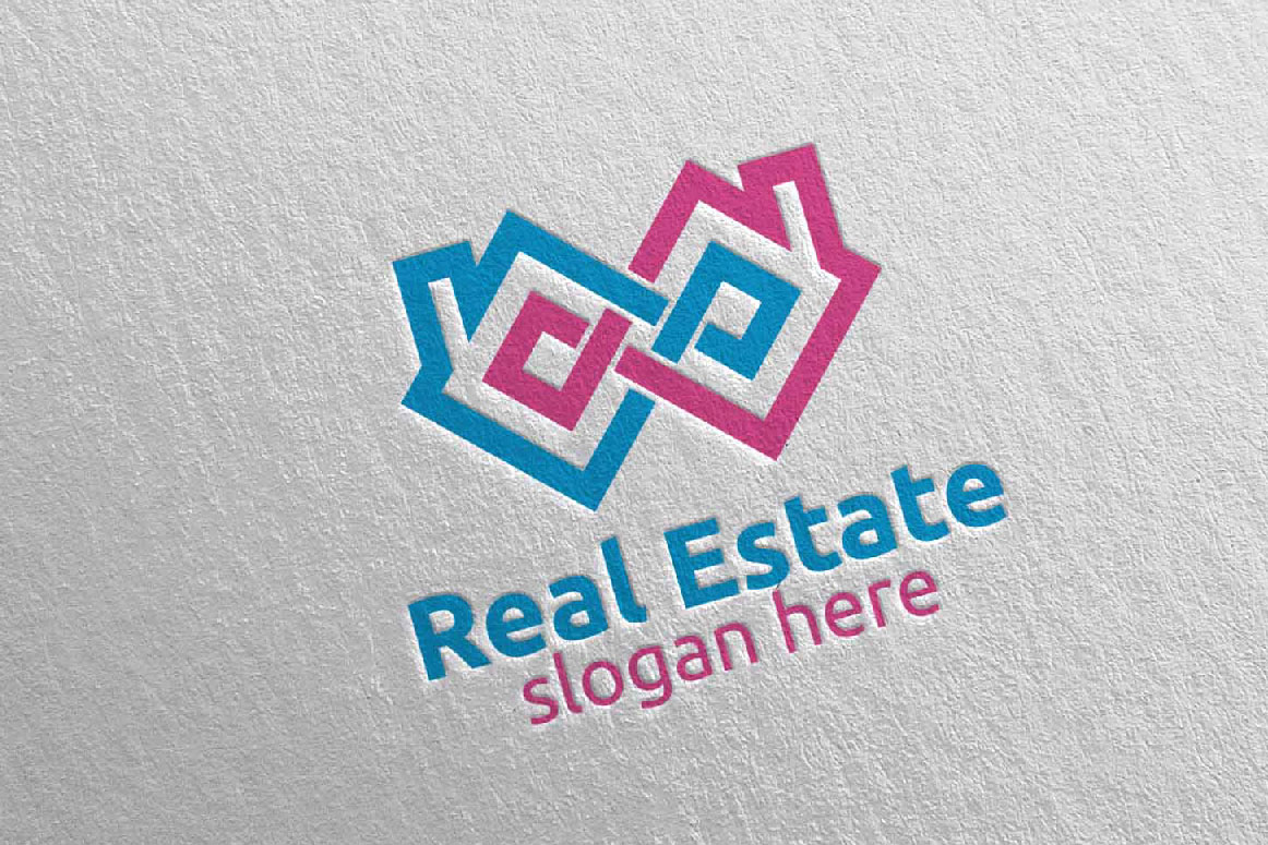 Real Estate Infinity Logo Design 35 example image 3